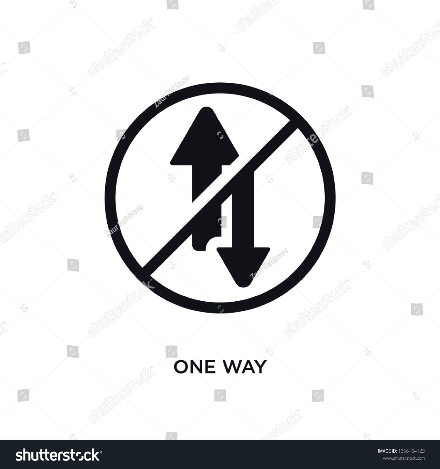 one way isolated vector icon simple element illustration from traffic signs concept vector icons one way editable logo symbol design on white background can be use for we...