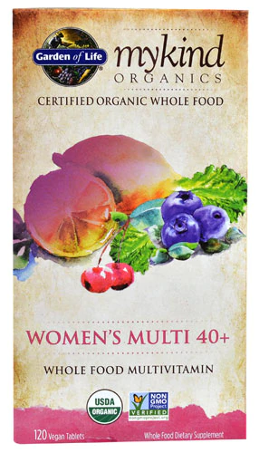 Garden Of Life Mykind Organics Women S Multi 40 Plus 120 Vegan
