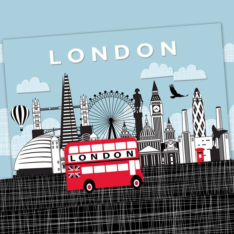 London Town Phoenix Trading Greetings Card Blank Inside For Your