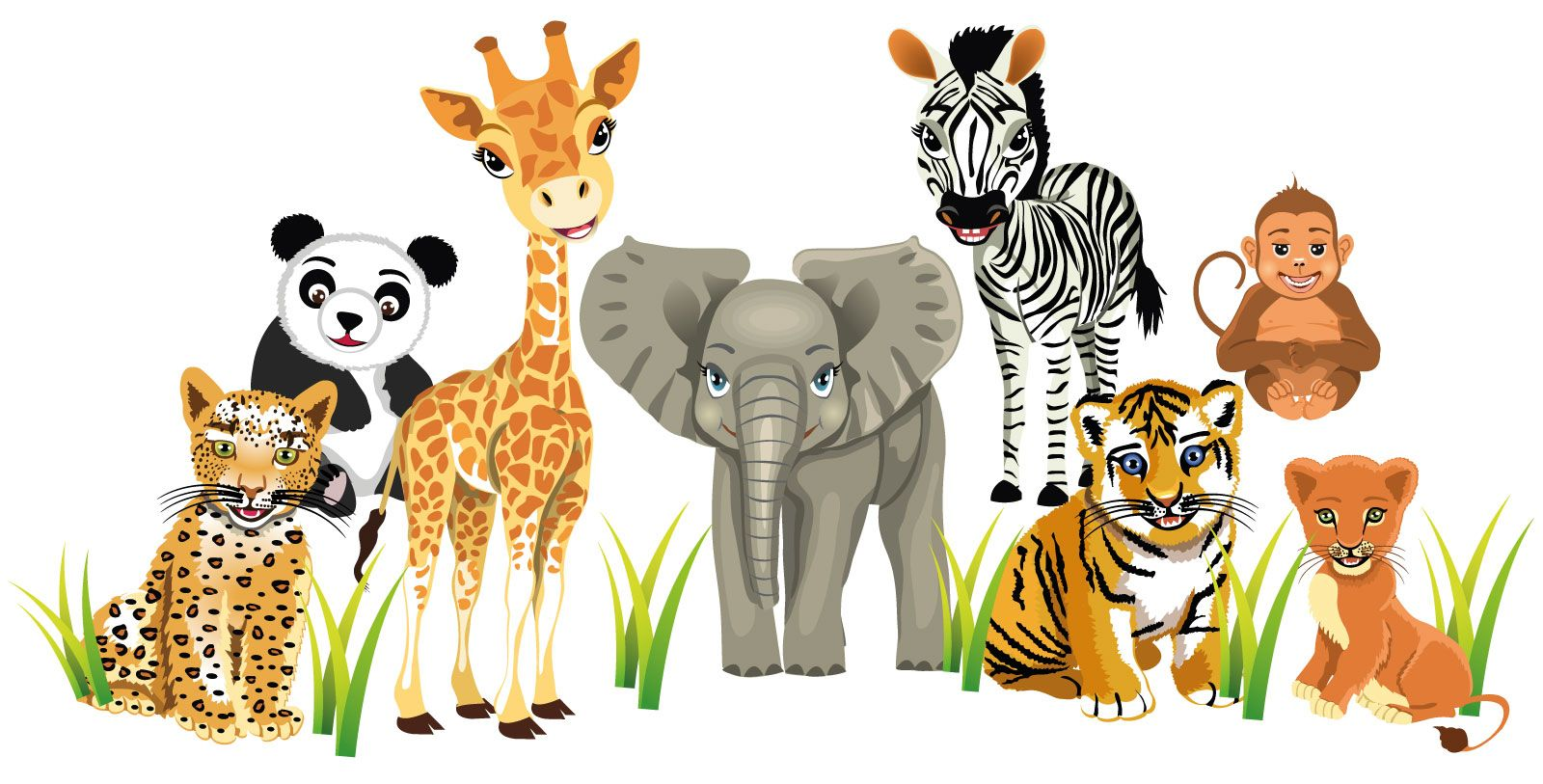 Details About Zoo Animals Wall Stickers Totally Movable Buy Now - Zoo animal wall decals