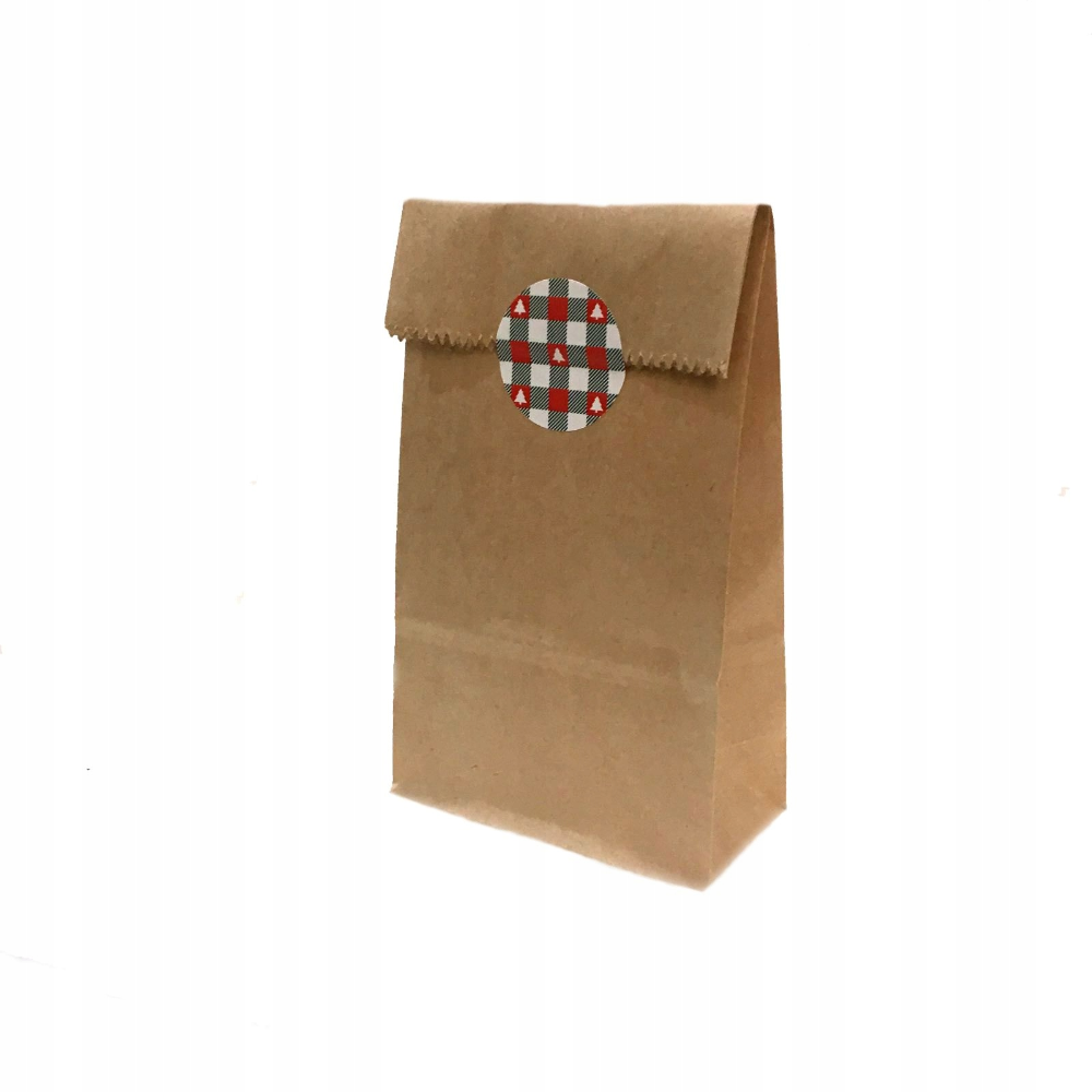 Torebka Torebki Swiateczne Opakowanie Choinka 16x8 Container Takeout Container Coffee Bag