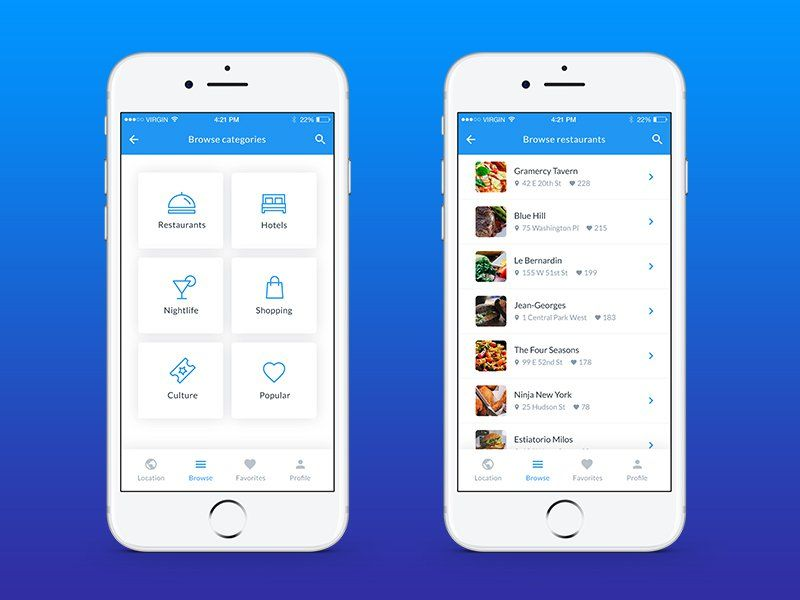 Ctyguide Mobile App Template iOS UI Pinterest Mobile app