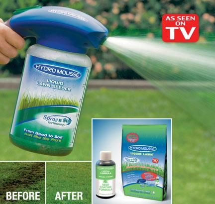 """Your gorgeous plush lawn is just a simple spray away!"""