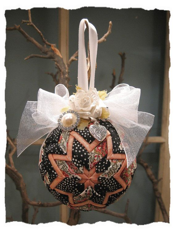 Christmas Paris Apartment Quilted Ball Ornament by KatarzynaAnia, $32.00