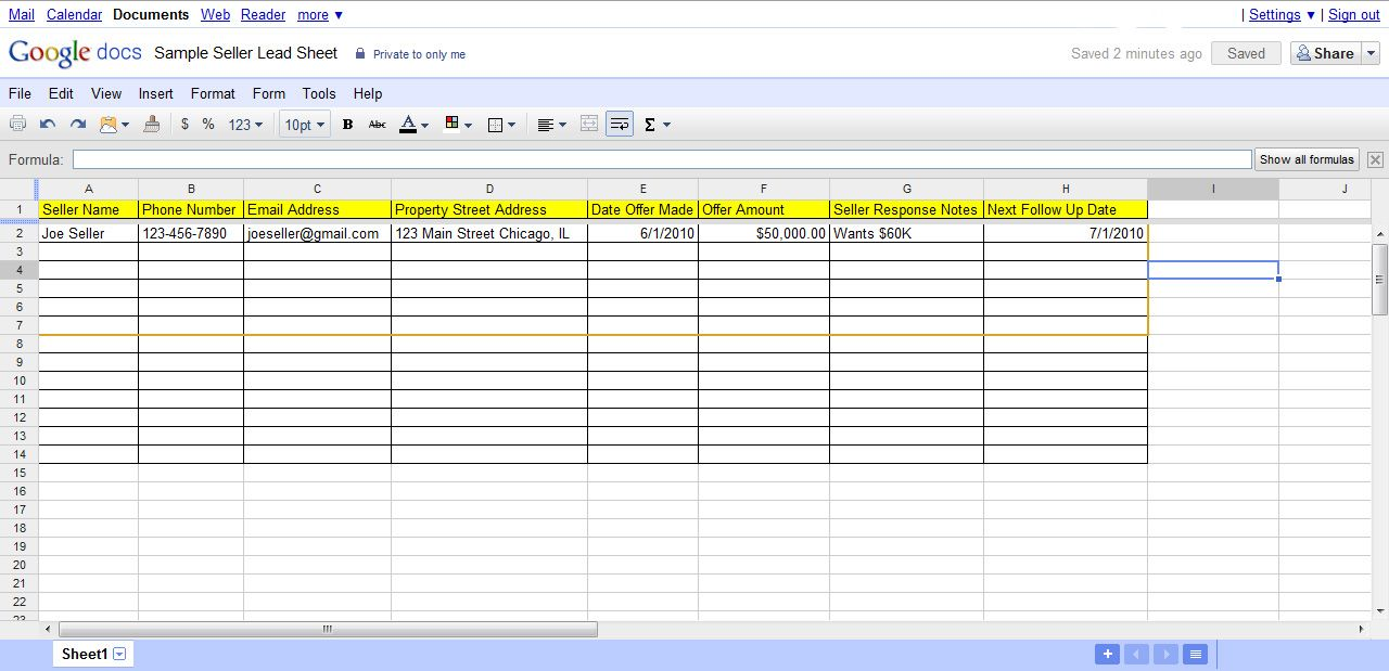 Real Estate Lead Tracking Spreadsheet Check more at https
