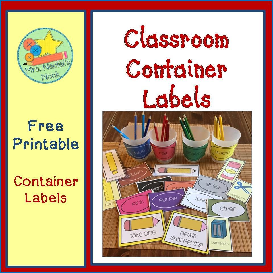 Keep All Your Colored Pencils And Writing Tools Organized With These Free Classroom Container Labels