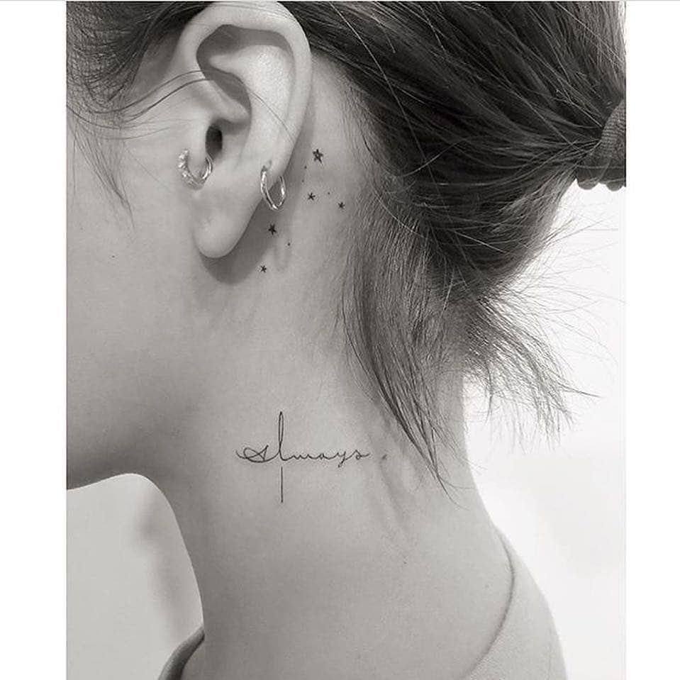 Sizzling Women Neck Tattoos 2019 Collection In 2020 Small Neck Tattoos Neck Tattoos Women Neck Tattoo