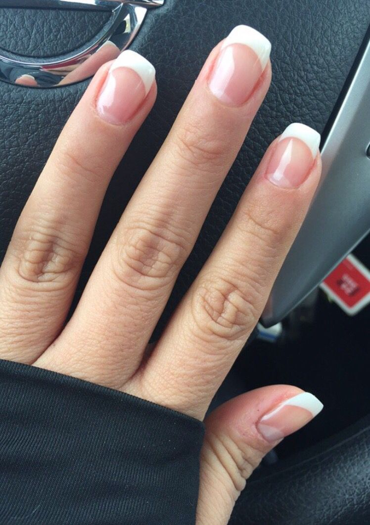 Gel French Manicure Gel French Manicure Gel Nails French French Tip Nails
