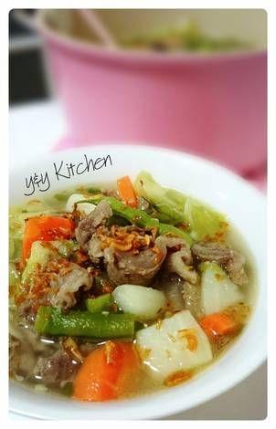 Resep Sop Tetelan Bumbu Special Oleh Yny Resep Masakan Resep Daging Sapi