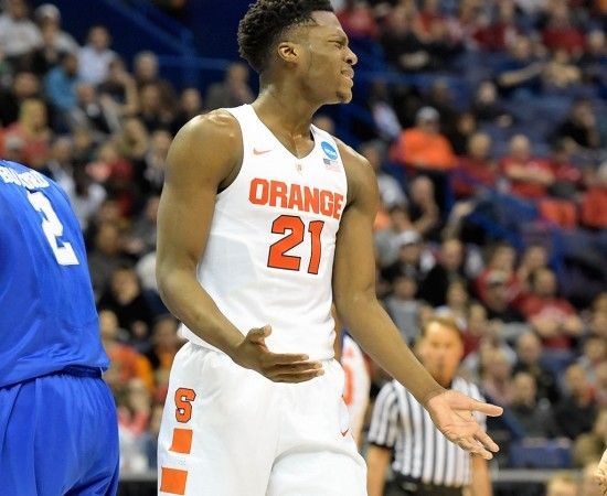 Syracuse Basketball Vs Middle Tennessee State In 2016 Ncaa Tournament Second Round Syracuse Basketball Ncaa Tournament Tournament Games