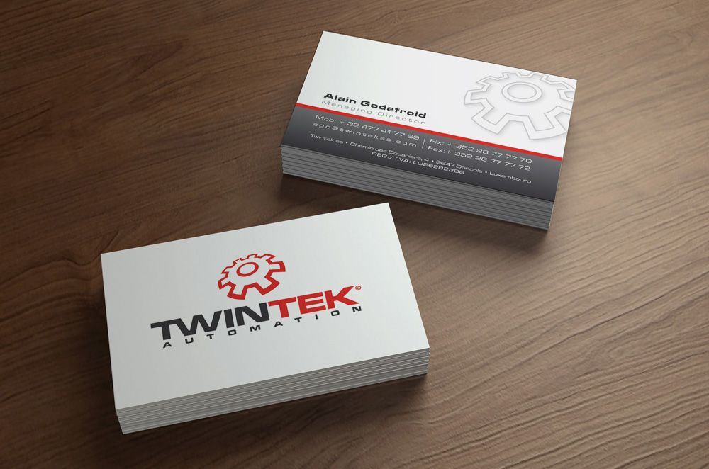 Conception Graphique Et Impression Des Cartes De Visite Pour La Societe Twintek