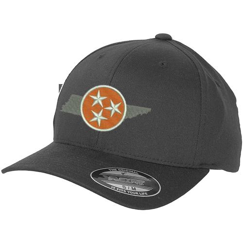 24aeaa53e5e Tri-Star Orange Flexfit Hat