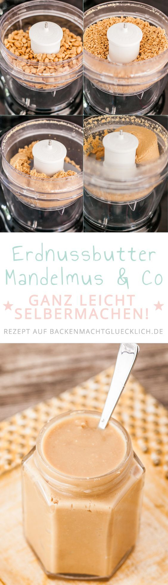 grundrezept f r erdnussbutter und mandelmus rezept essen pinterest erdnussbutter butter. Black Bedroom Furniture Sets. Home Design Ideas