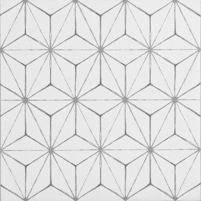 Wallpops Kikko 12 X 12 Vinyl Tile In White Peel And Stick Floor Vinyl Tile Flooring Adhesive Floor Tiles