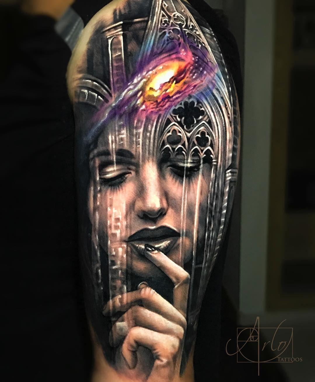 Arlo Di Cristina Arm Tattoo: Arlo DiCristina (@arlotattoos