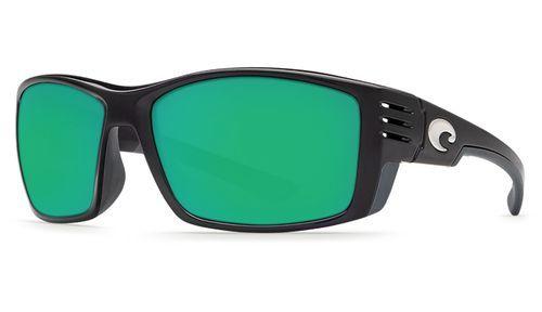054f989b72f37 Costa Del Mar Cortez Sunglasses Shiny Black Frame Green Mirror Lens 580P