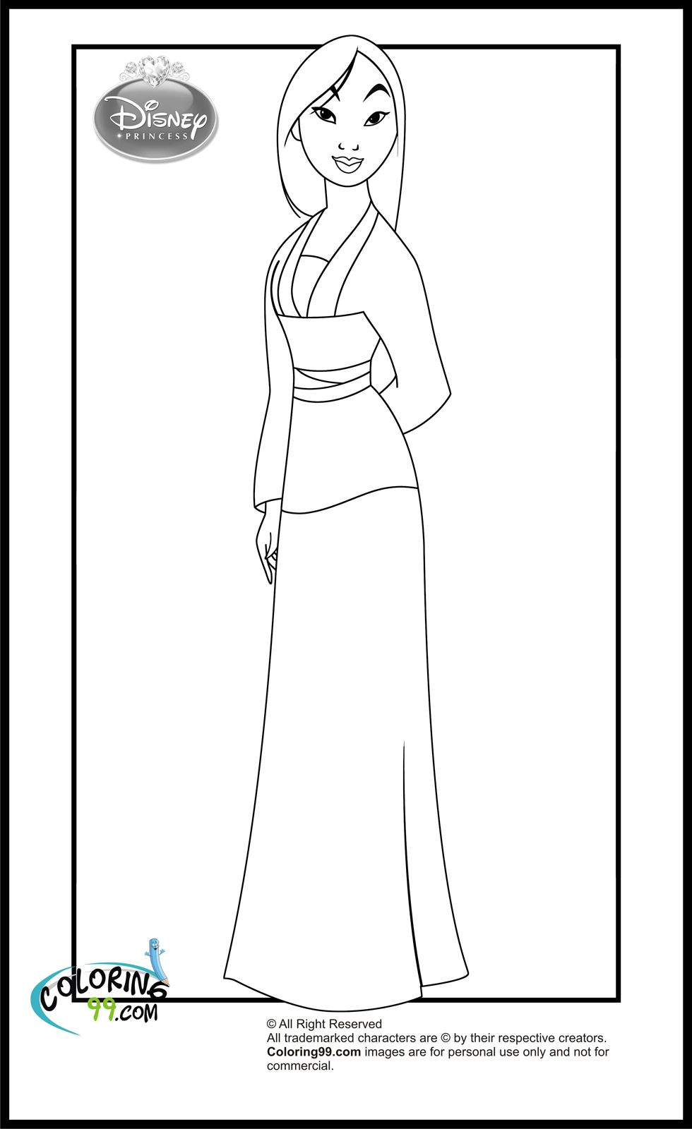 disney princess mulan coloring pages