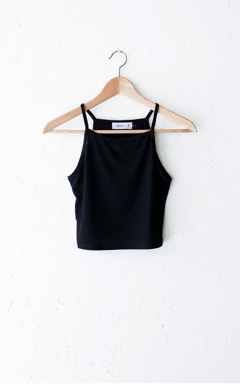 - Description - Size Guide Details: Super cute basic knit cami crop top in…