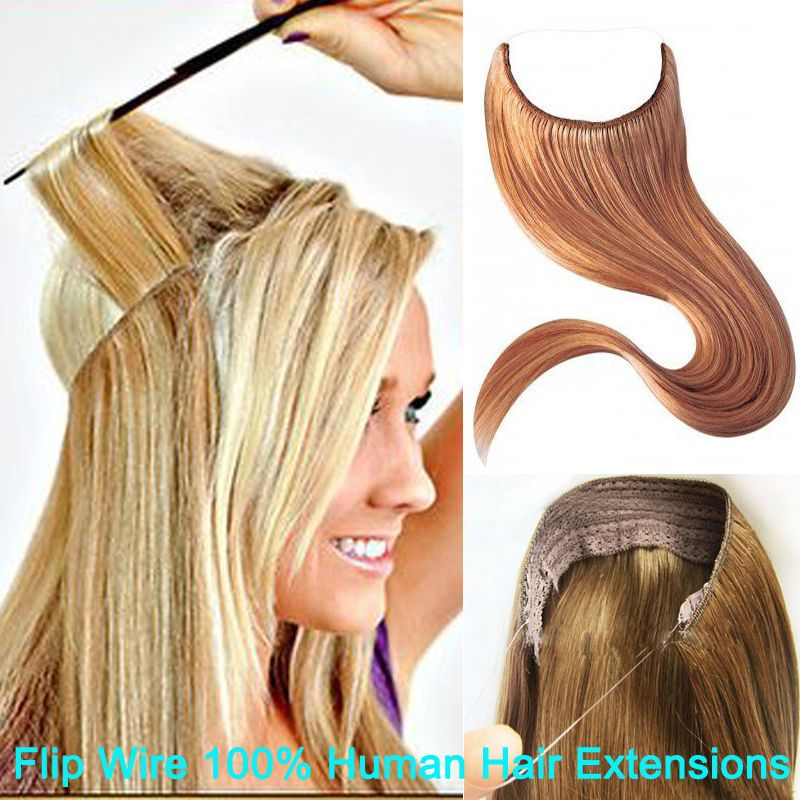 Hot Sale Headband Weft Flip Invisible Wire Hair Extensions 100 Remy