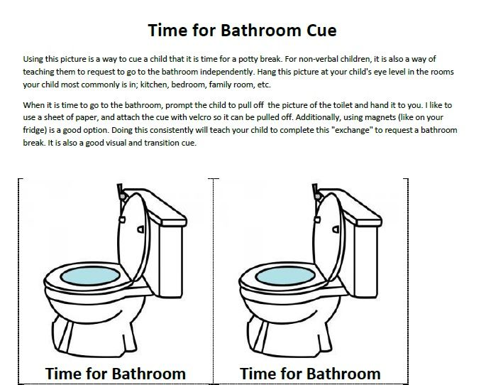Instructions On How To Use A Picture Of Toilet Increase Spontaneous Requests The Bathroom Based Pecs And Great For Children With Autism Or