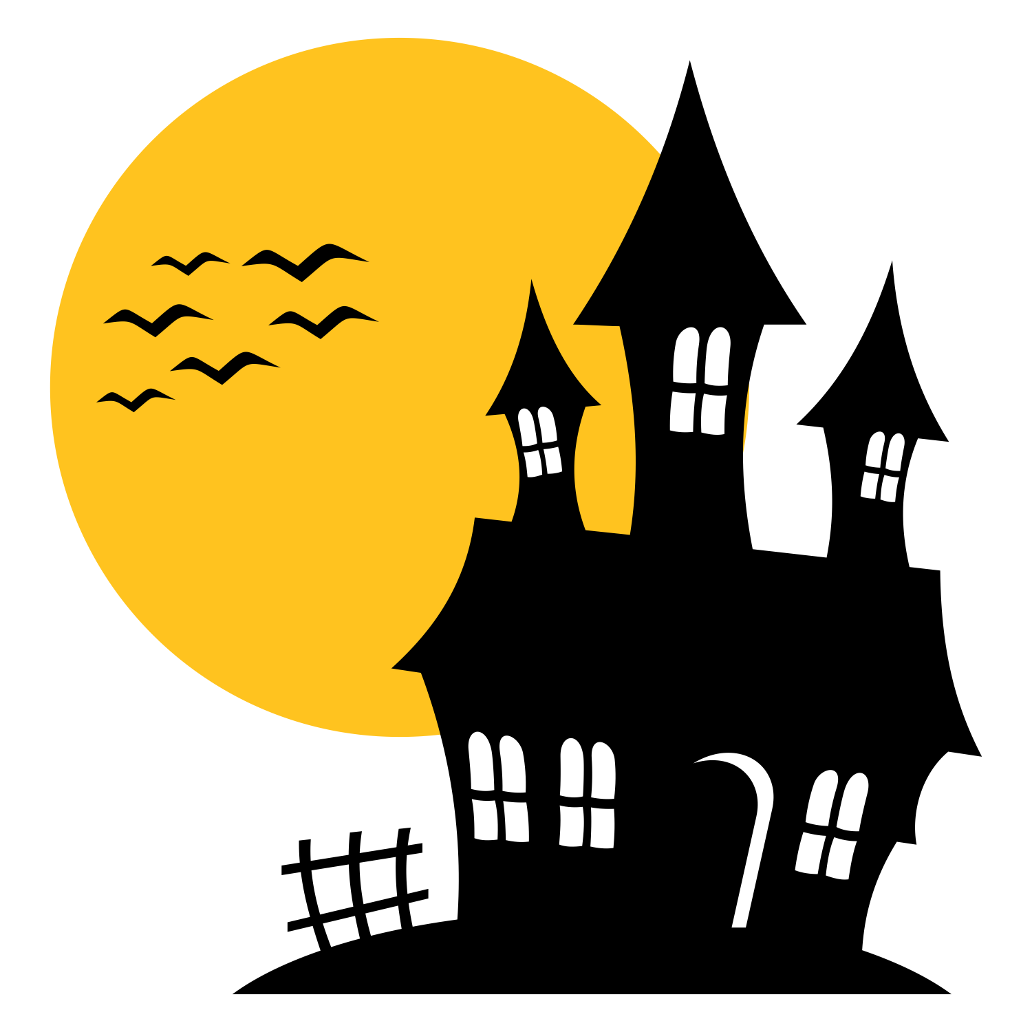 Haunted house silhouette | Halloween! | Pinterest | House, Haunted ...