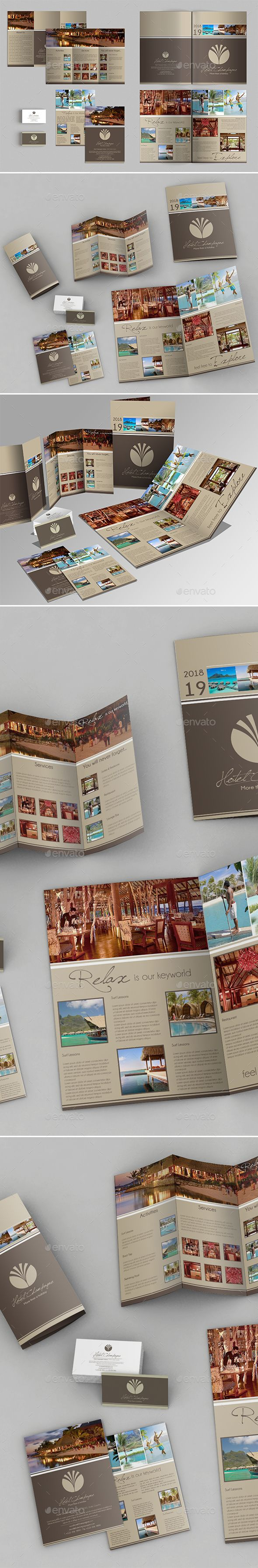 A3 + A4 Trifold Brochure + Business Card | Brochures, Corporate ...