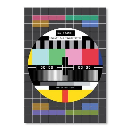 No Signal Graphic Art on Canvas Americanflat Size: 40 cm H x 30 cm W