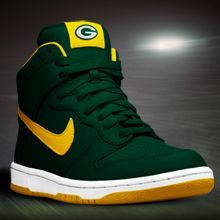 purchase cheap d2079 a5d81 Nike Dunk High - Green Bay Packers Shoes
