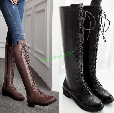 Women's Flat Lace-Up Riding Boot