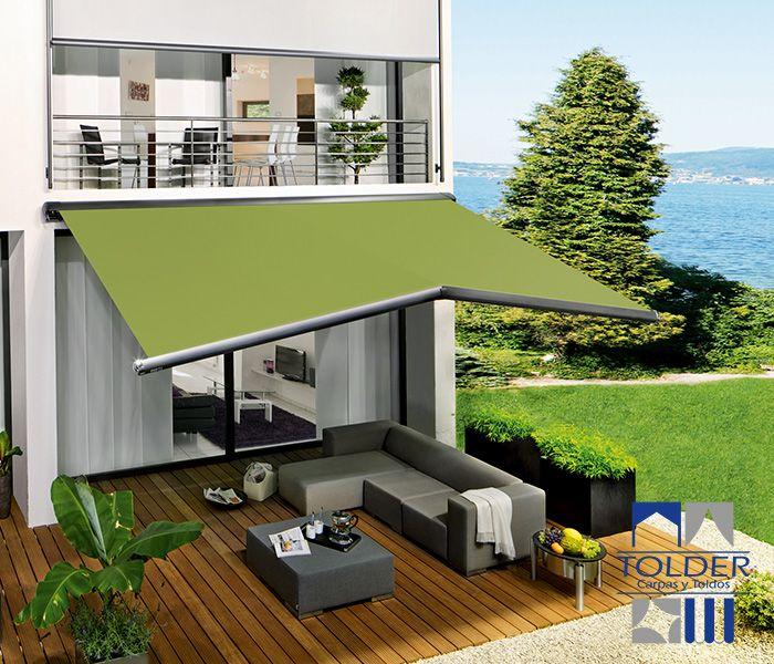 Toldos brazo extensible semicofre terrazas pinterest for Toldos triangulares para terrazas