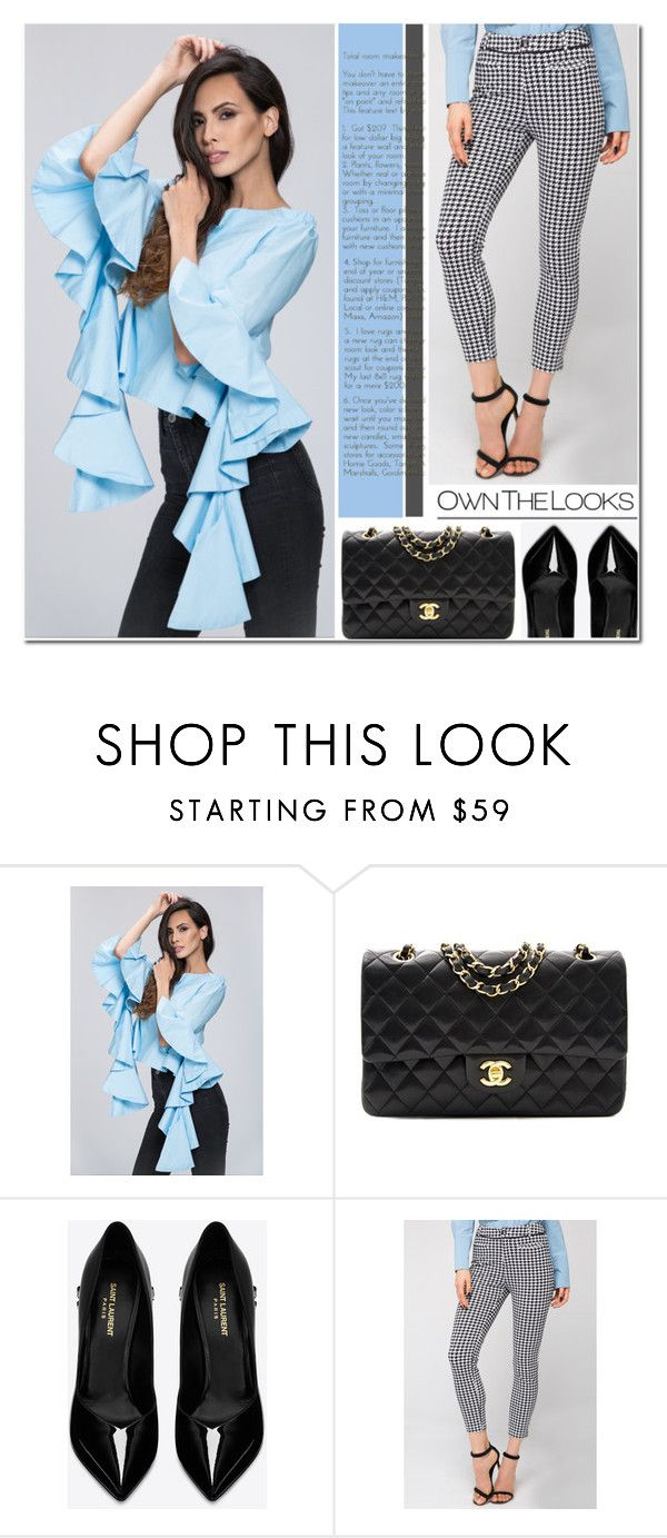 """Own The Looks 31"" by anyasdesigns ❤ liked on Polyvore featuring Chanel and Yves Saint Laurent"