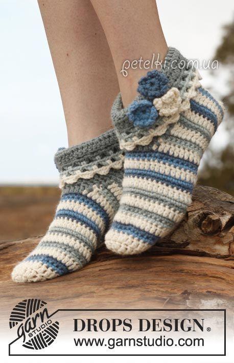 Вязание | Zapatillas, Ganchillo y Puntos