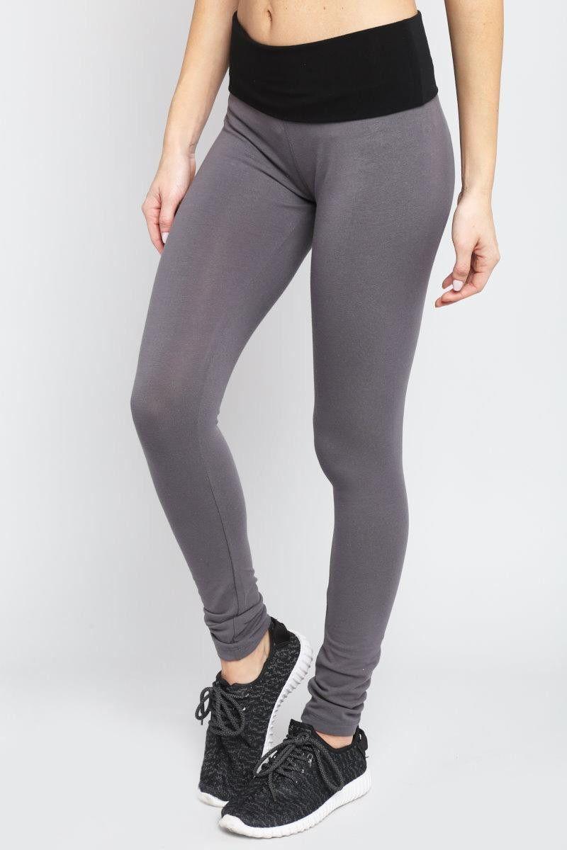 Colorblock Yoga Pants Gray