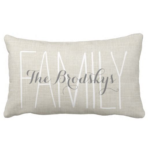 Family Name Rustic Chic Monogram Pillow