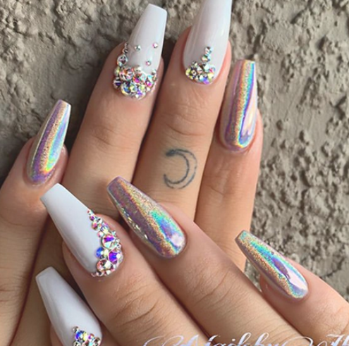 amazing wedding nails designs for bride  nail art connect
