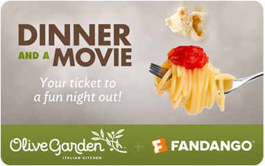 Dinner and a Movie Combo. DINNER AND A MOVIE GIFT CARD