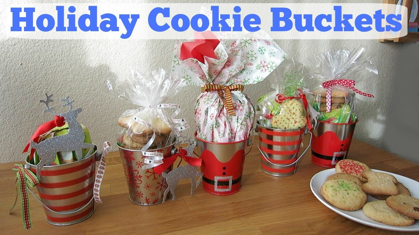 Diy Holiday Cookie Buckets Christmas Gift Ideas Toots 4