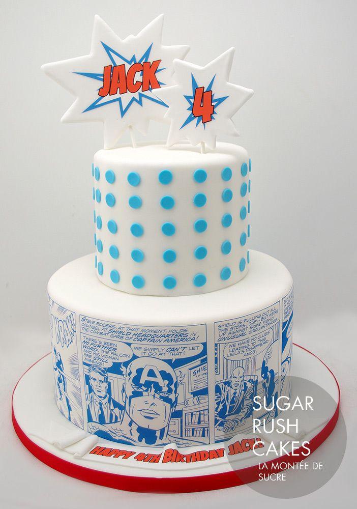 Captain America Birthday Cake Design