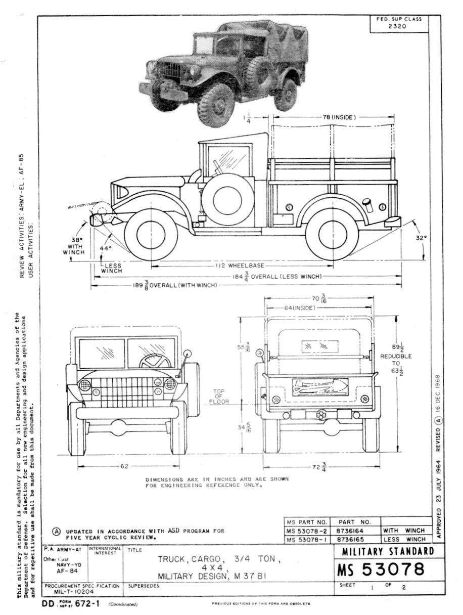 image result for m37 dodge drawing