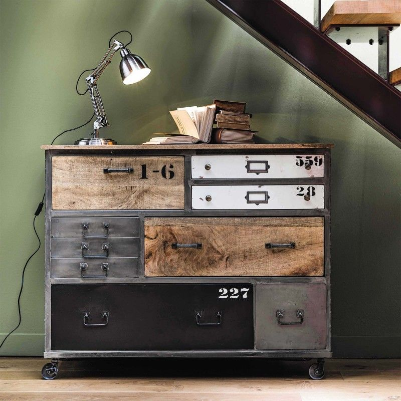 49 id es d co de buffet et commode salons industrial and buffet. Black Bedroom Furniture Sets. Home Design Ideas