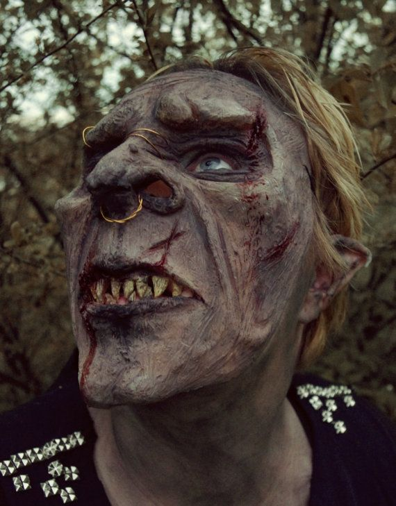 Orc Mask  Realistic Halloween Mask by ProblemTurtle on Etsy, $57.00