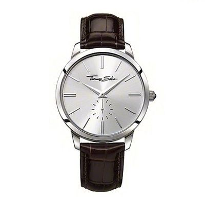 f3945d7bdd0 A gift guide to men s jewellery! Thomas Sabo Leather Silver Face Watch  WA0151-244-201