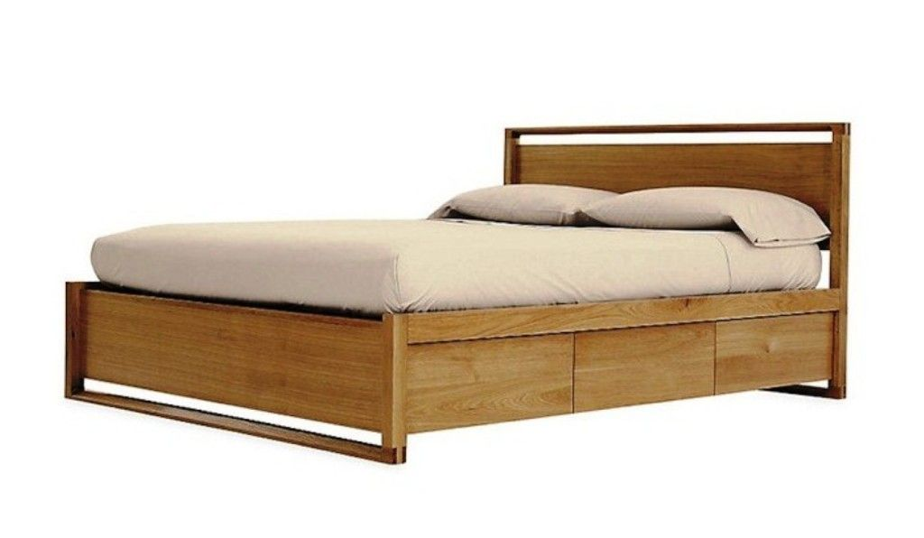 diy queen storage bed frame with brown bed linen - Storage Bed Frame Queen