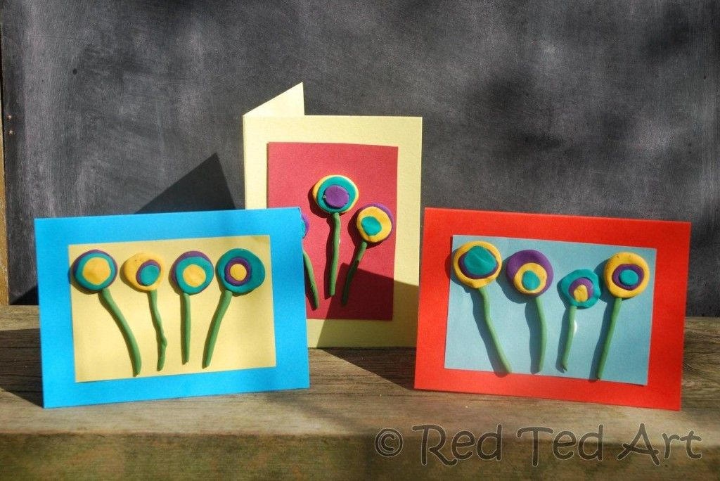 Superb Card Making Ideas For Kindergarten Part - 8: Easy FIMO Flower Cards - Perfect For Motheru0027s Day Or Birthdays. Ad Well As  Our