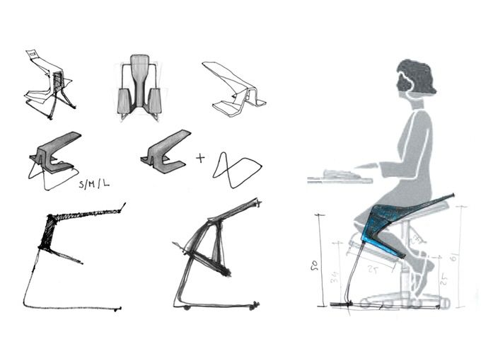 ergonomic chair kickstarter outdoor reclining chairs this with unique geometry keeps your back straight while you are working and ...