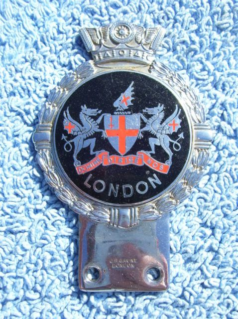 VINTAGE 1960s LONDON CITY CAR BADGE-VESPA/LAMBRETTA/AUTO EMBLEM JR GAUNT RARE | eBay
