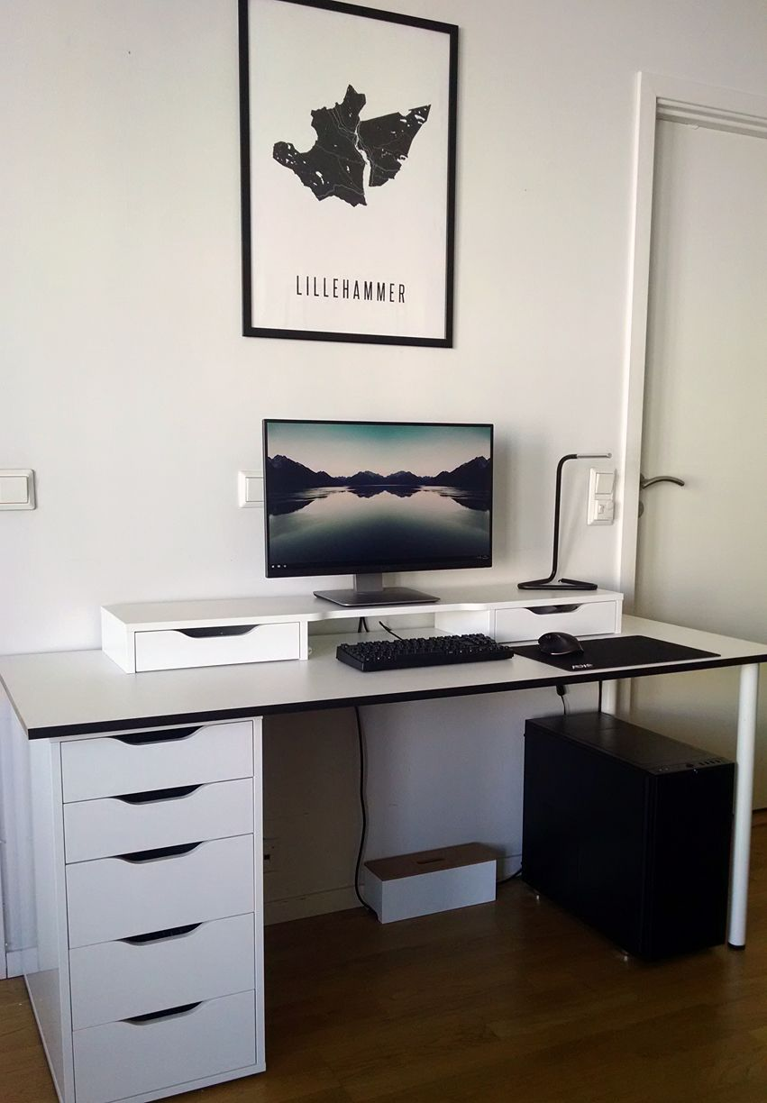my ikea battlestation dise o de interiores pinterest video games gaming and pc setup. Black Bedroom Furniture Sets. Home Design Ideas