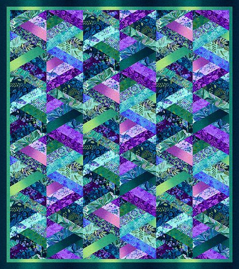 Feather and Flora Quilt #1 #jellyrollquilts