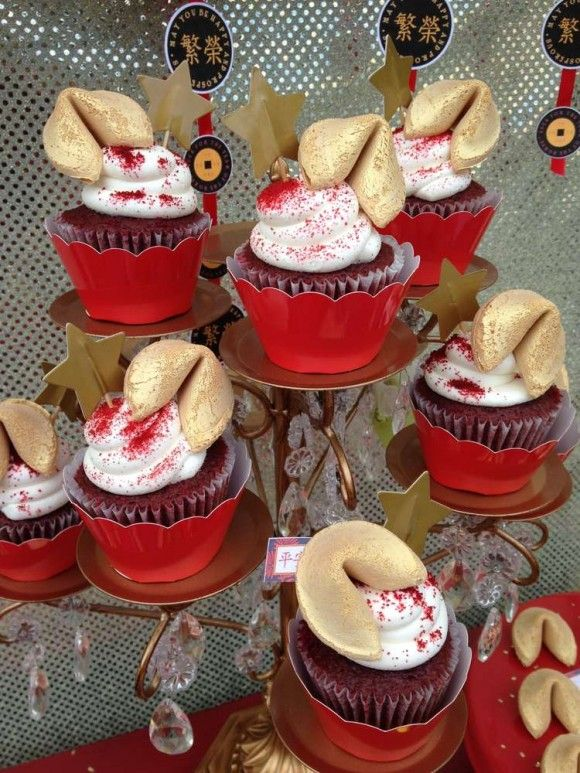 fortune cookie cupcakes catchmypartycom chinese new year cake chinese new year 2017