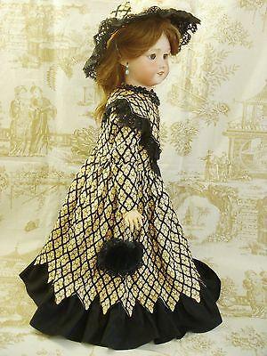 Wonderful-Vintage-Silk-Couturier-BEBE-Dress-amp-Hat-for-27-30-French-bebe